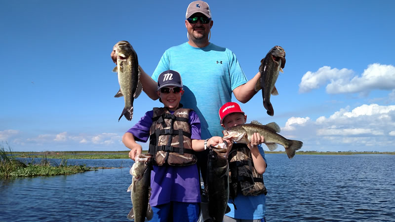 Three Day Okeechobee Fishing for Largemouth Bass